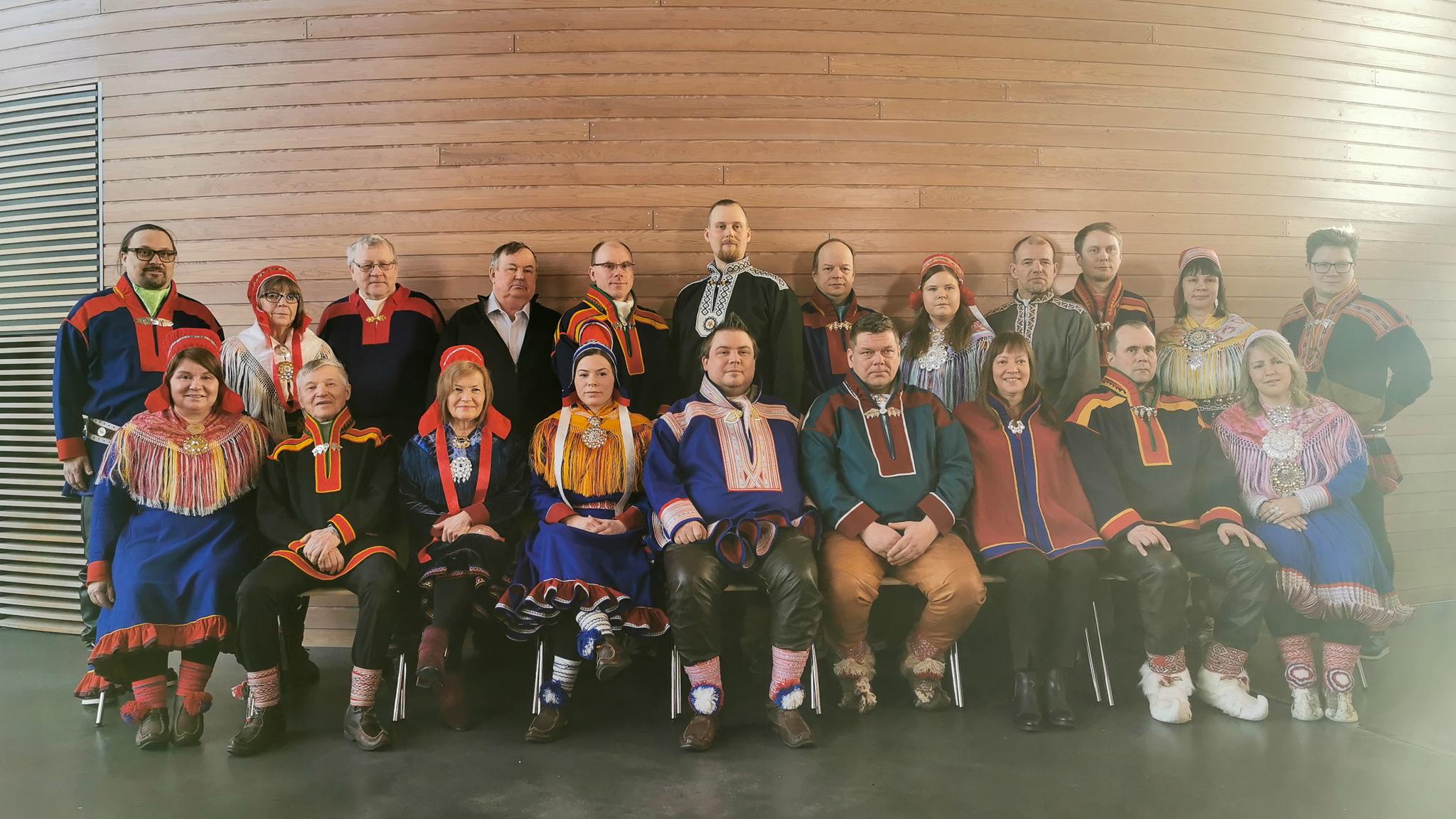 Suoma Sámedikki áirasat válgabadjái 2020–2023 Govva:Johanna Alatorvinen / Sámediggi