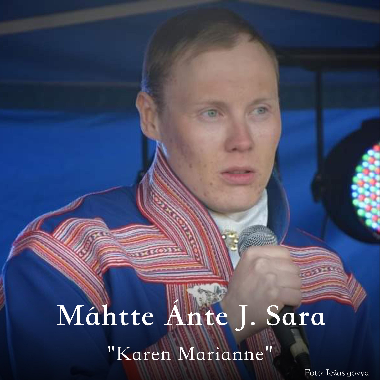 Máhtte Ánte J. Sara oassálastá luđiin «Karen Marianne». Preassagovva.