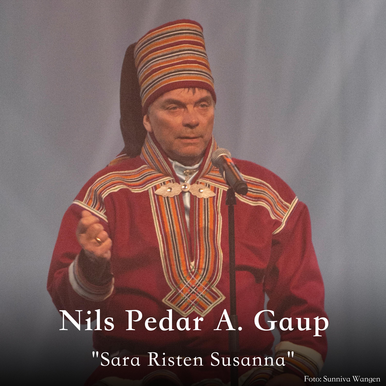 Nils Peder A. Gaup oassálastá luđiin «Sara Risten Susanna». Preassagovva: Sunniva Wangen.